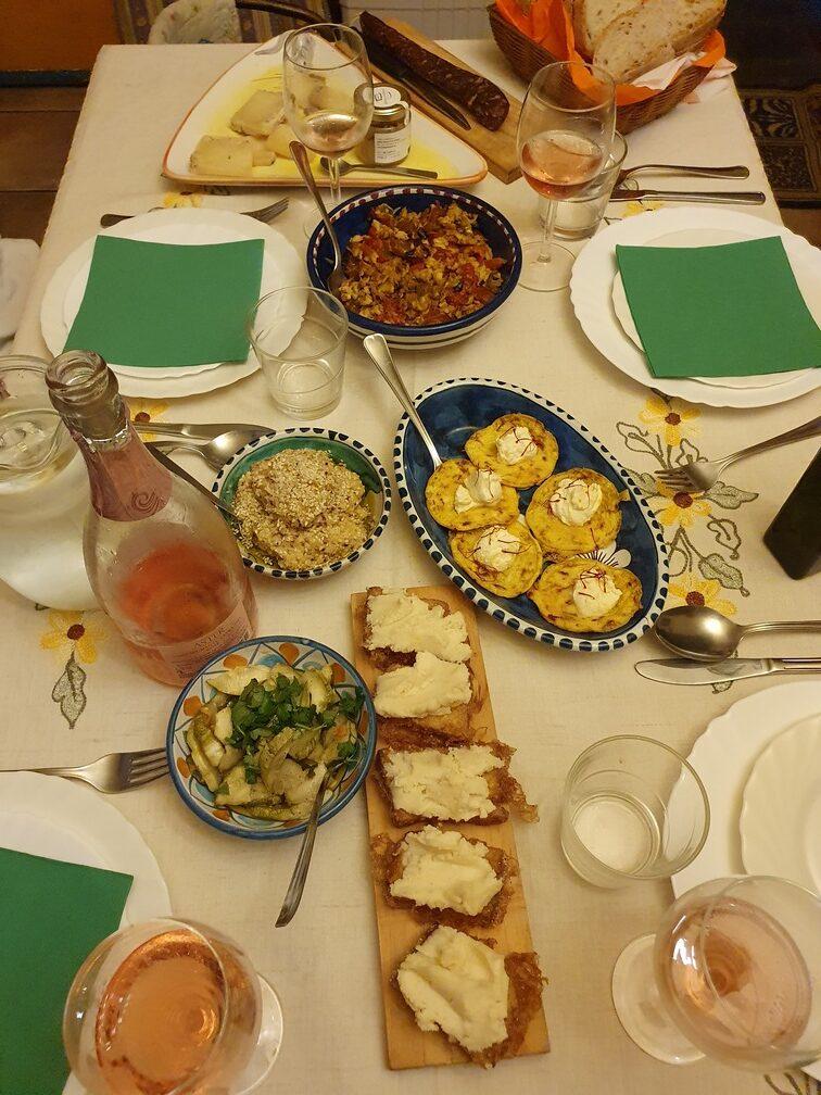 cena a casa di Maria e Diego